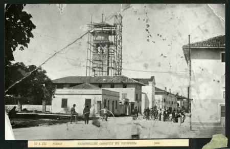 Ricostruzione campanile nel dopoguerra