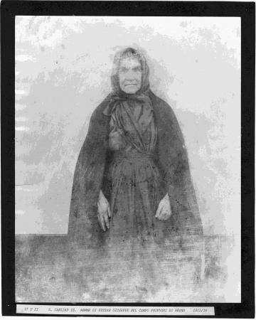 Mamma di Petean Giuseppe nel campo profughi di Wagna