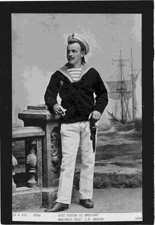 Gigi Piazza di Begliano, marinaio dell'I.R. Marina