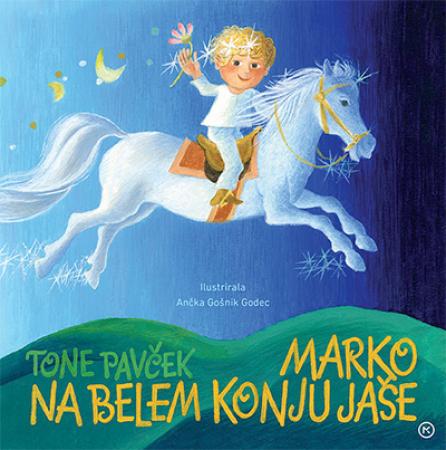 Marko na belem konju jaše
